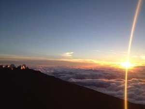 Sunrise at Haleakala National Park.