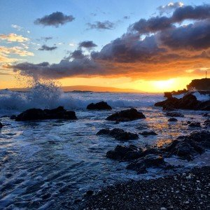 South Maui Sunset at La Perouse Bay