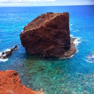 Hike a short trail up to see Sweeheart Rock, Lana'i