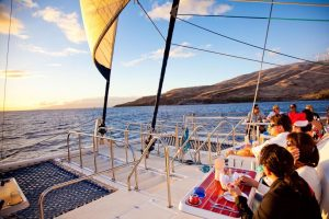 Enjoy an incredible view of Maui while dining!